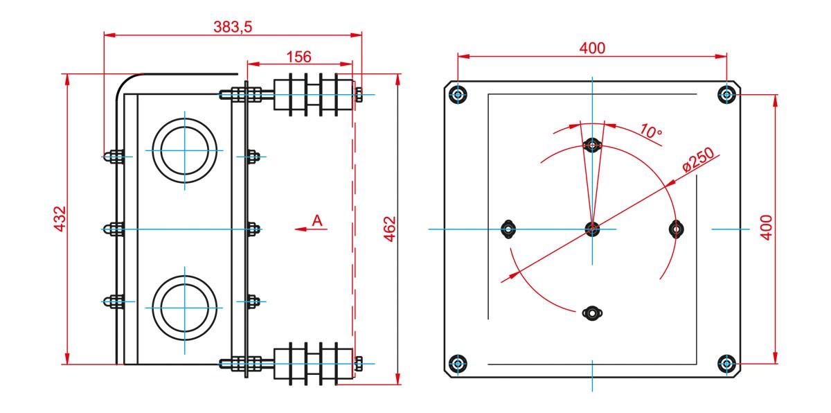 Габаритный чертеж и размеры АСТРОН-3А