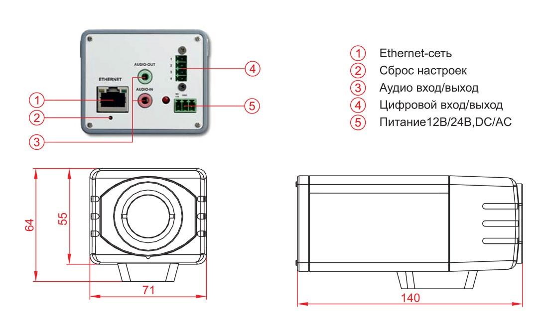 Габаритный чертеж и размеры АСТРОН-5A-IQ2130