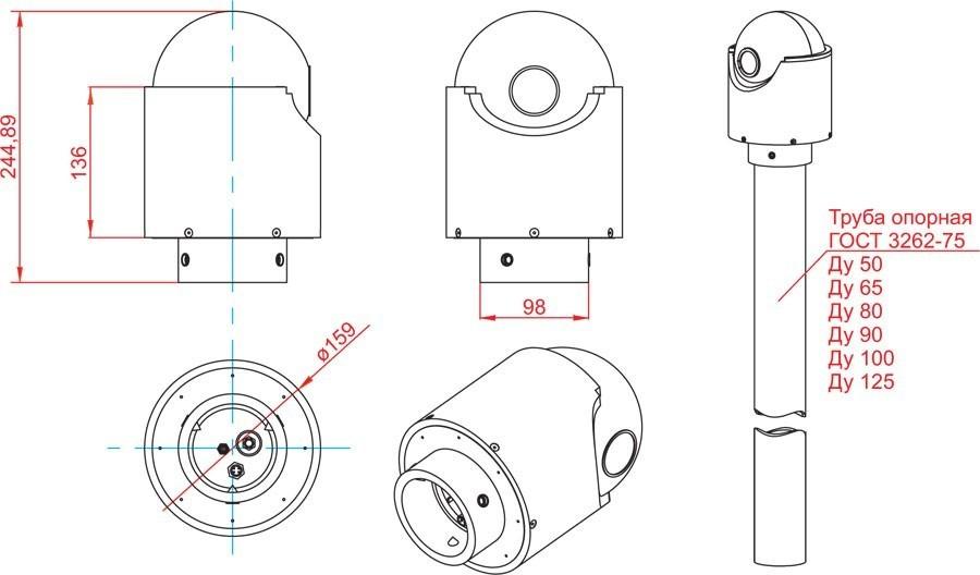 Габаритный чертеж и размеры АСТРОН-7А