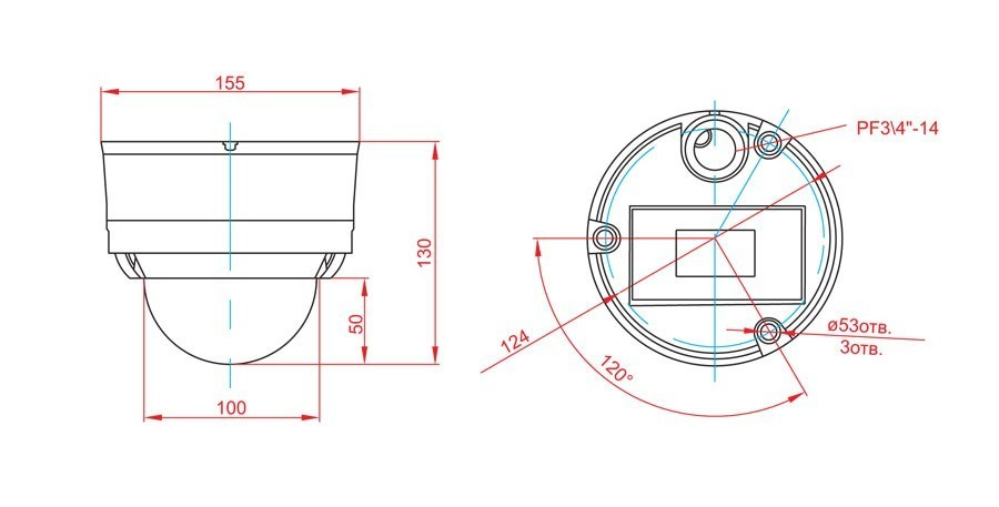 Габаритный чертеж и размеры АСТРОН-5A-IQ2210