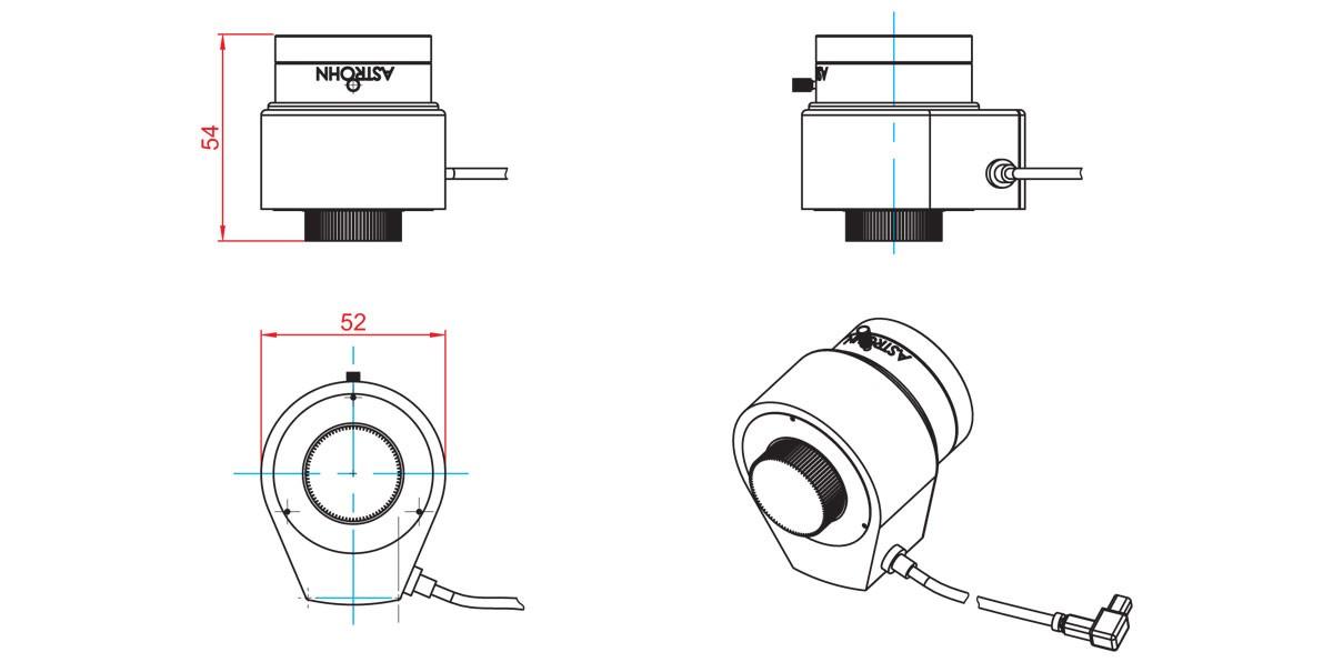 Габаритный чертеж и размеры АСТРОН-ФA-25/0,95