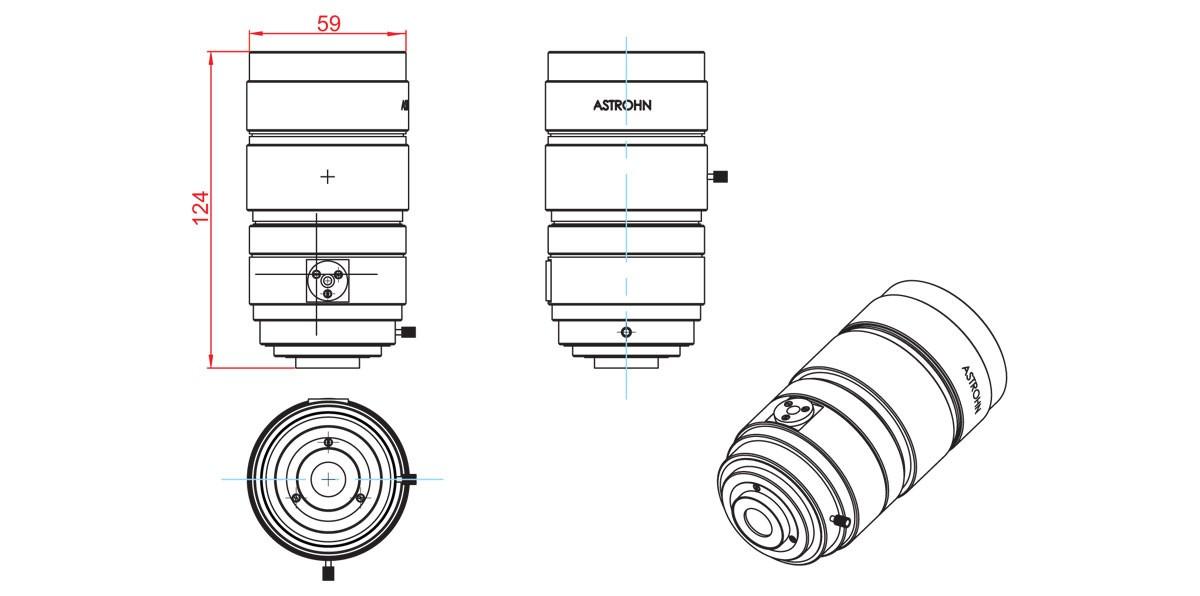 Габаритный чертеж и размеры АСТРОН-BA-558/1,3