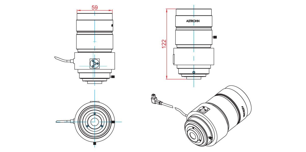 Габаритный чертеж и размеры АСТРОН-BA-1545/1,0
