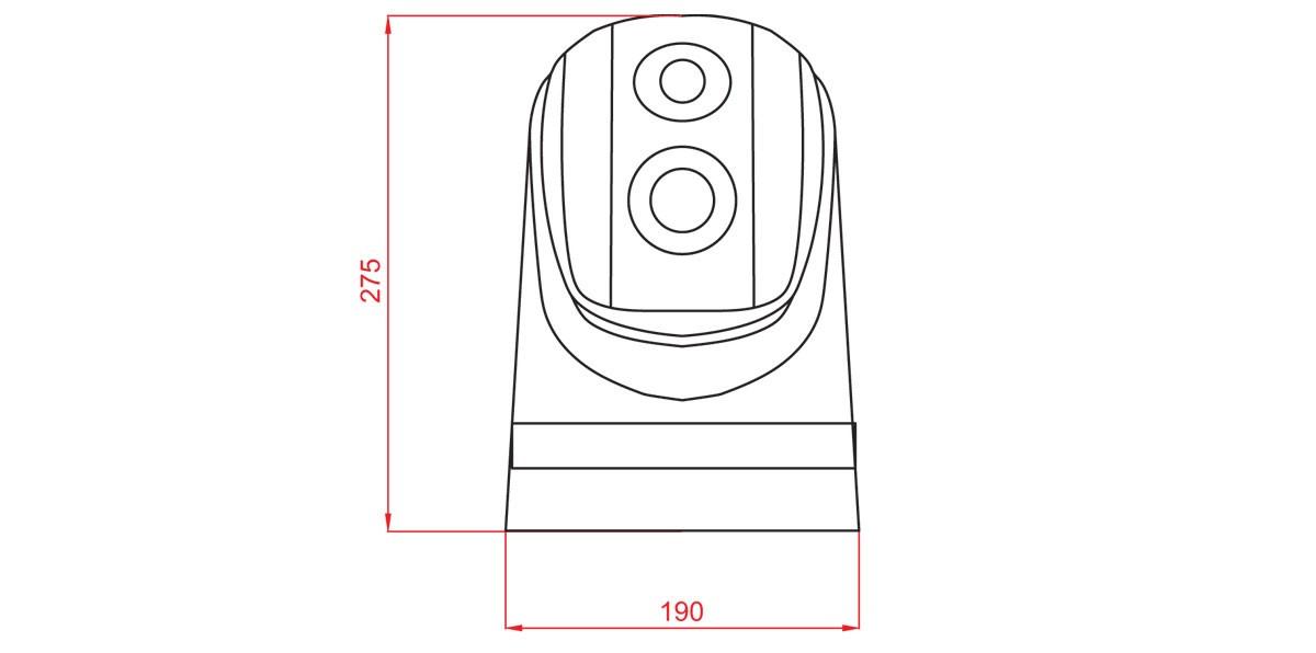 Габаритный чертеж и размеры АСТРОН-384ПМ