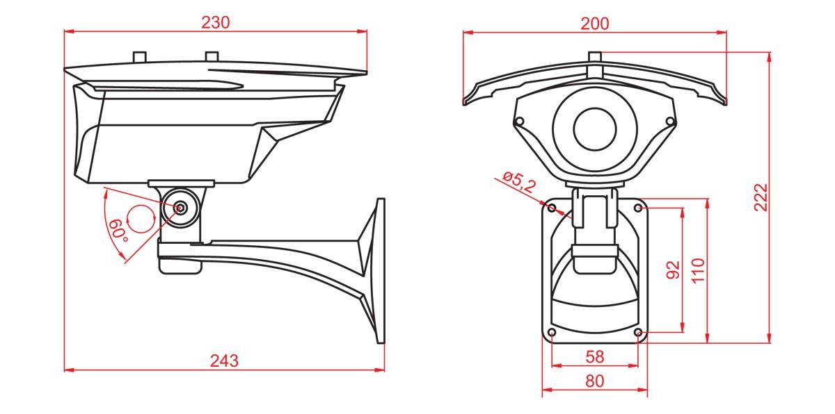 Габаритный чертеж и размеры АСТРОН-IQ640