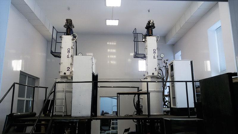 Производство по выращиванию монокристаллов