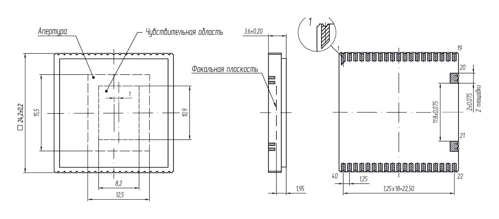 Габаритные чертежи и размеры АСТРОН-64017-1