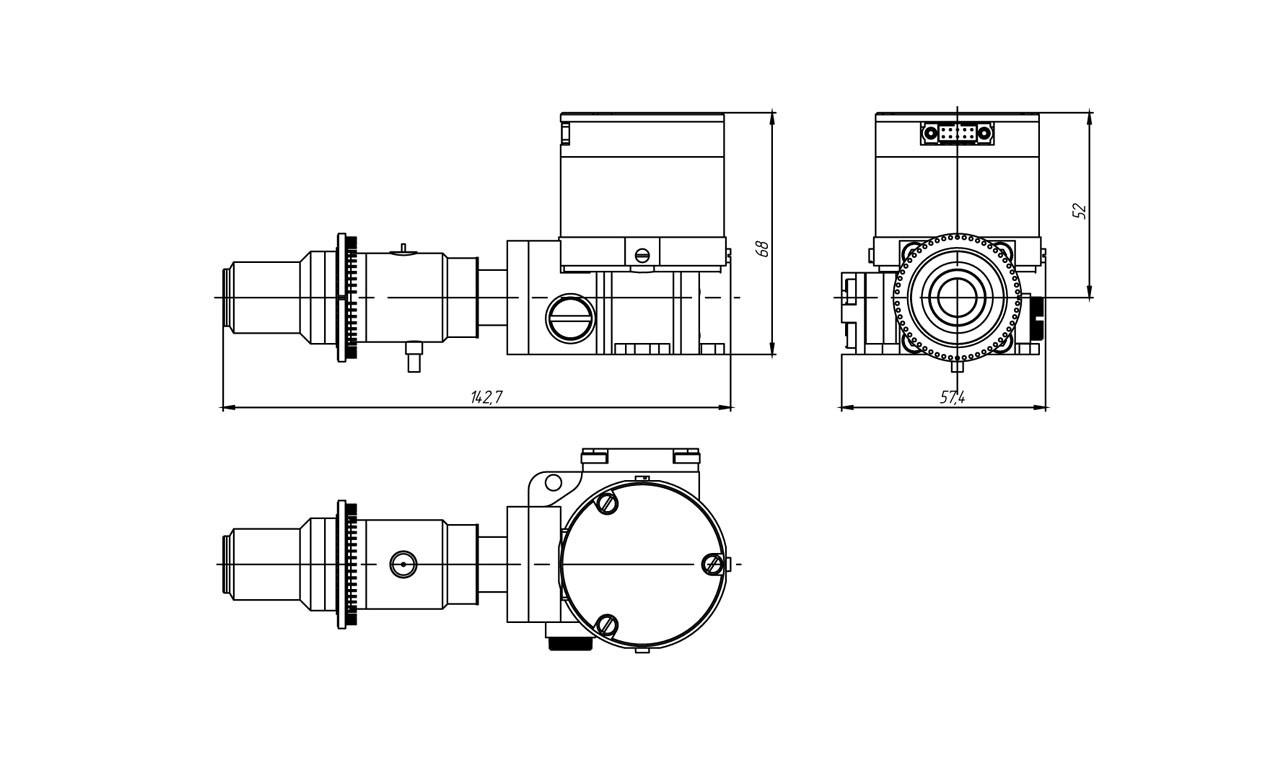 Габаритные чертежи и размеры матричного фотоприемного модуля АСТРОН-320КРТ30А35