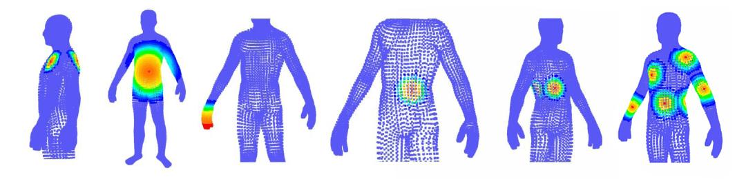 Алгоритмы обработки результатов сканирования позволяют точно визуализировать расположение следов ВВВ на поверхности тела человека и его одежды