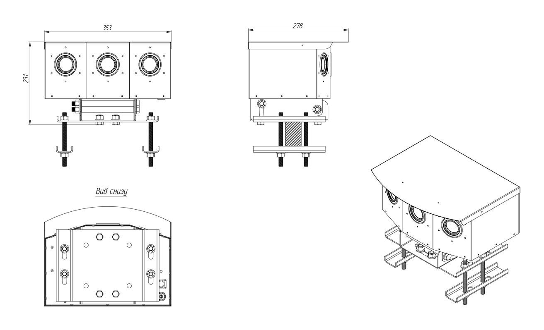 Мультиспектральный комплекс автоматического обнаружения возгорания Астрон-Ф90