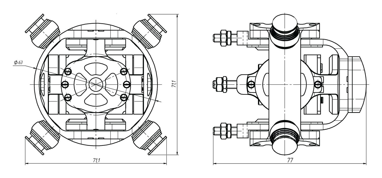 Гиростабилизированный трёхосевой карданный подвес